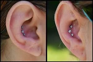 Triple Inner Conch Piercing | piercings | Pinterest