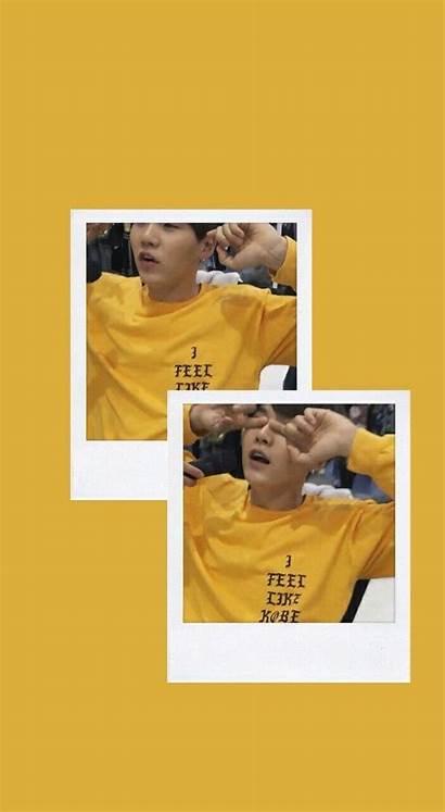 Aesthetic Yellow Bts Suga Yoongi Polaroid Jimin