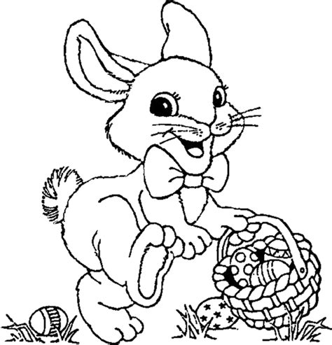 easter bunny coloring pages  kids easter bunny