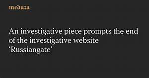 An investigative piece prompts the end of the ...