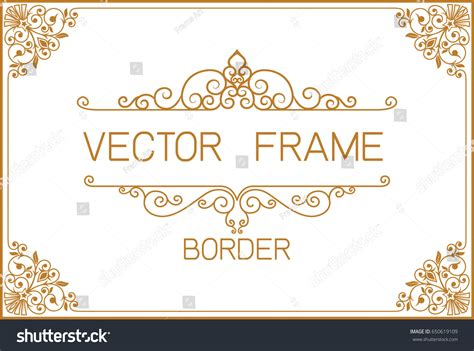 gold border design frame photo template vectores en stock