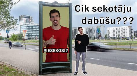 Cik SEKOTĀJUS dabūšu reklamējoties ielās? - YouTube