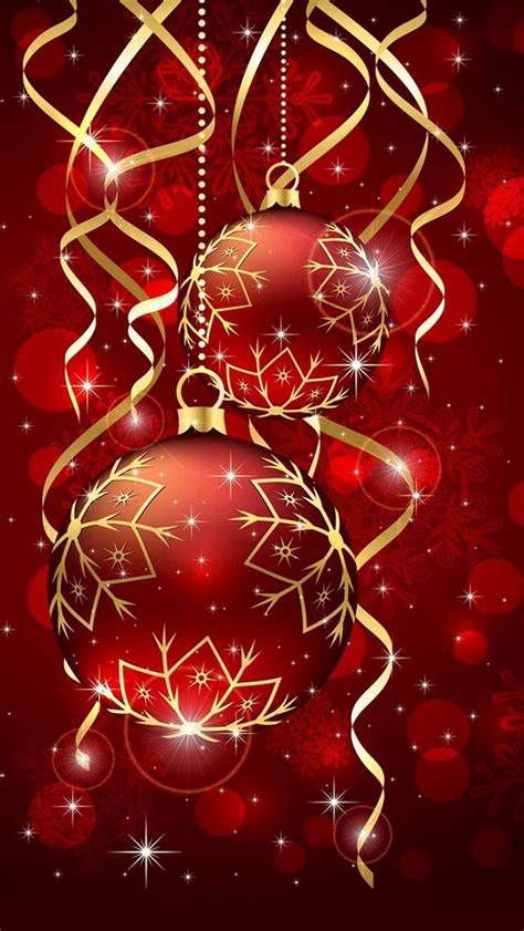 Red Christmas Ball Ornaments Wallpaper  Free Iphone
