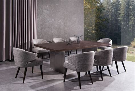 modrest carlton modern grey fabric dining chair dining