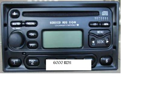 what is the difference between a ford 4500 rds eon cd player and a ford 6000 rds eon cd player