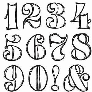 fancy numbers - Google Search | Lettering Fonts ...