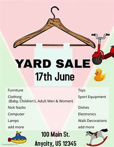 Yard Sale Flyer template PosterMyWall