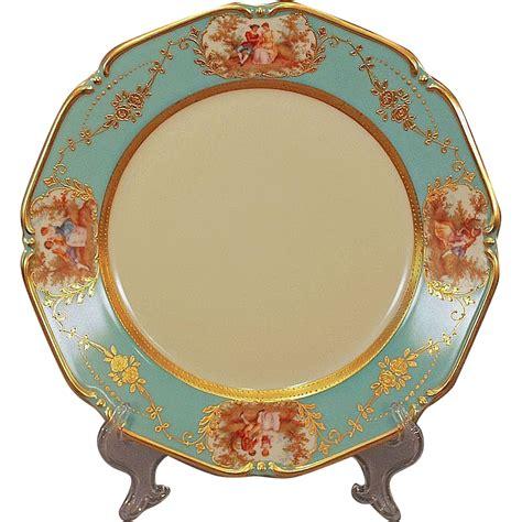 Teller Vintage by Vintage Aqua Celeste Blue Serving Dinner Plate