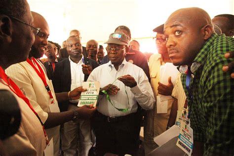 Governor Adams Oshiomhole Pictured At Apc Edo Governorship