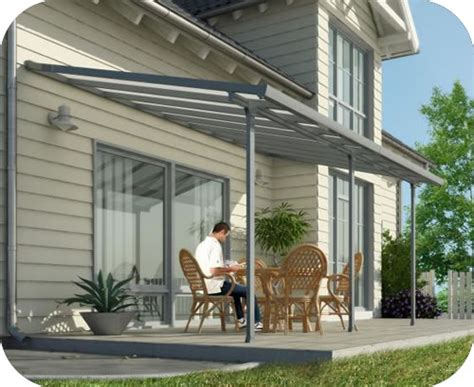 palram 10x28 feria patio cover kit gray hg9428