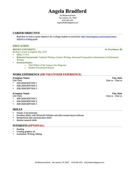 correct way to write education on a resume education section resume writing guide resume genius