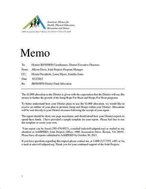 business memo format written