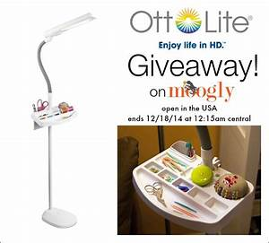 a brighter holiday with an ottlite giveaway on moogly With ottlite 18w sewing floor lamp with accessory tray