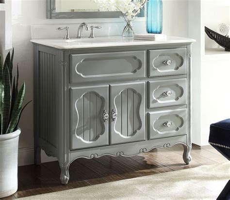 42 Inch Bathroom Vanity Grey Cottage Beach Style Victorian