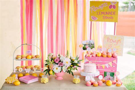 kara 39 s party ideas pink lemonade girl summer 1st birthday