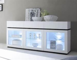 Vitrine Blanc Laqué : meuble vitr blanc laqu mat ultra tendance ~ Teatrodelosmanantiales.com Idées de Décoration