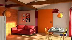 cuisine beige et rouge affordable brico depot cuisine With good cuisine mur rouge meuble blanc 17 decoration chambre simba