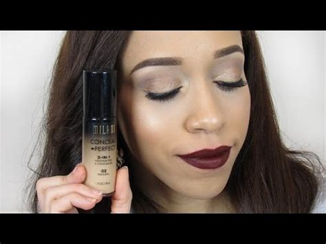 milani cosmetics foundation demo review shade