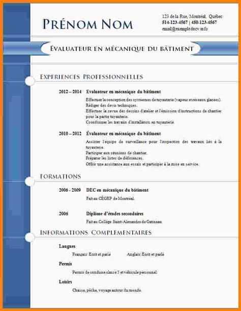 Cv En Ligne Word by Exemple Cv 233 Tudiant Cv En Ligne Word Prbox
