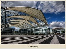 At the Munich Airport Saying goodbye