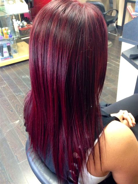 red violet hair color galhairs
