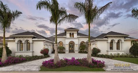 custom home plan  palm beach fl architect weber design group naples fl
