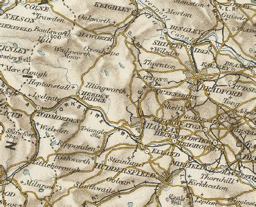 History of Halifax, in Calderdale and West Riding | Map ...