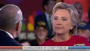 Hillary Clinton Participates in Commander-In-Chief Forum ...