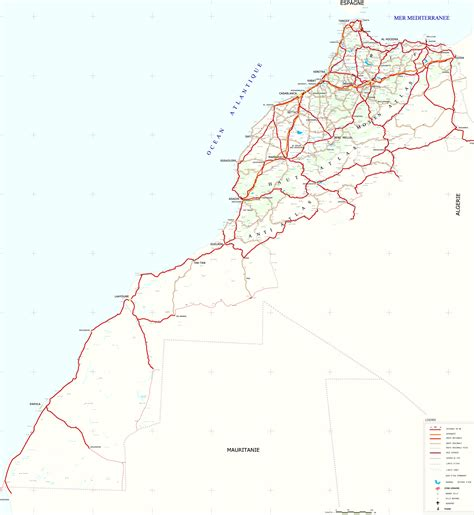 Carte Villes Maroc Pdf by Carte Routi 232 Re Du Maroc Maps Et Plan Du Maroc