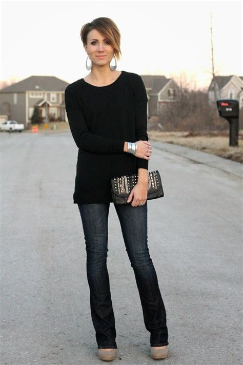 1000+ images about What to Wear With Bootcut Jeans on Pinterest   Black sweaters Purple ...