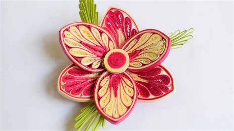 quilled flower quilled flower advance quilling youtube
