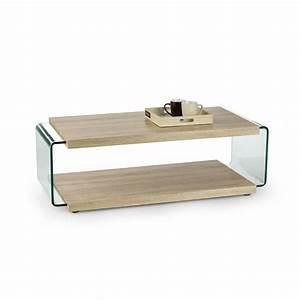 Table Basse Verre Bois : table basse double plateau bois et verre lisea so inside ~ Teatrodelosmanantiales.com Idées de Décoration