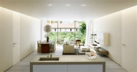 Talent From Render by Talent From Render Open Plan Apartment Interior