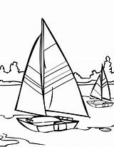 Coloring Water Pages Printable Sailing Sailboat Adult Print Colouring Ship Template Sail Boat Walks Jesus Comments Clipart Nature Templates sketch template