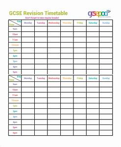 common worksheets printable revision timetable With roster timetable template