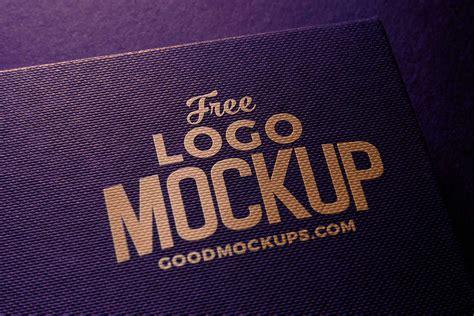 Free Linen Embossed Photorealistic Logo Mockup PSD - Good ...