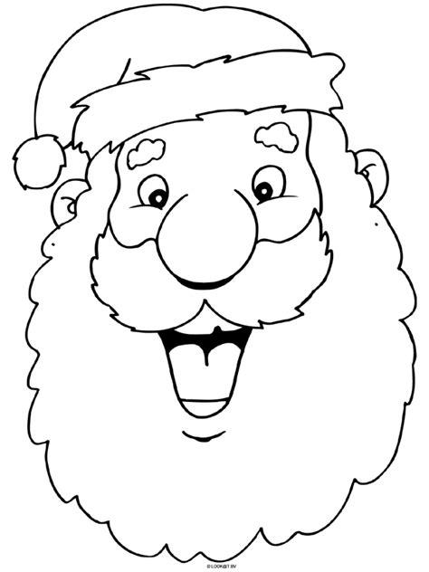 Kleurplaat Kerstman Gezicht by Kerstman Masker Knutselpagina Nl Knutselen
