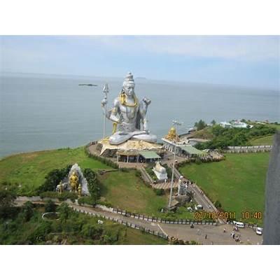 Murudeshwara Temple Beach Lord Shiva statue - eNidhi India