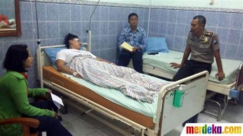 foto  kondisi pengemudi lamborghini maut usai hantam
