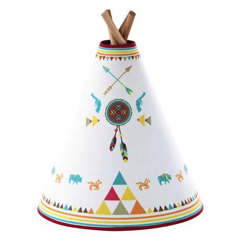 image chambre bebe le enfant tipi en bois et abat jour coton multicolore h