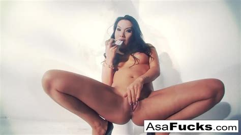 Asa Akira Uses A Fake Hand To Please Her Pussy Redtube