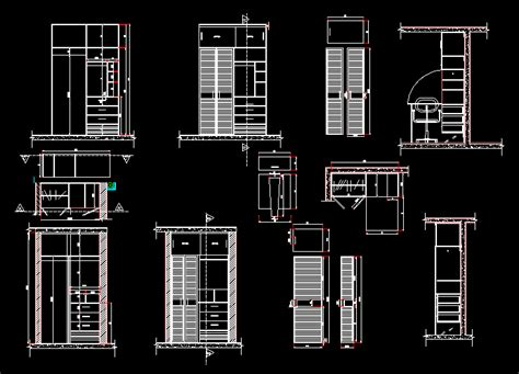 wooden armoire closet dwg block  autocad designs cad