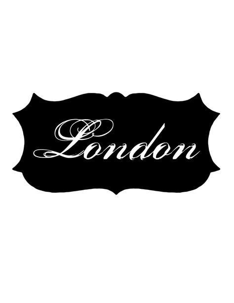 iron  images london label  graphics fairy