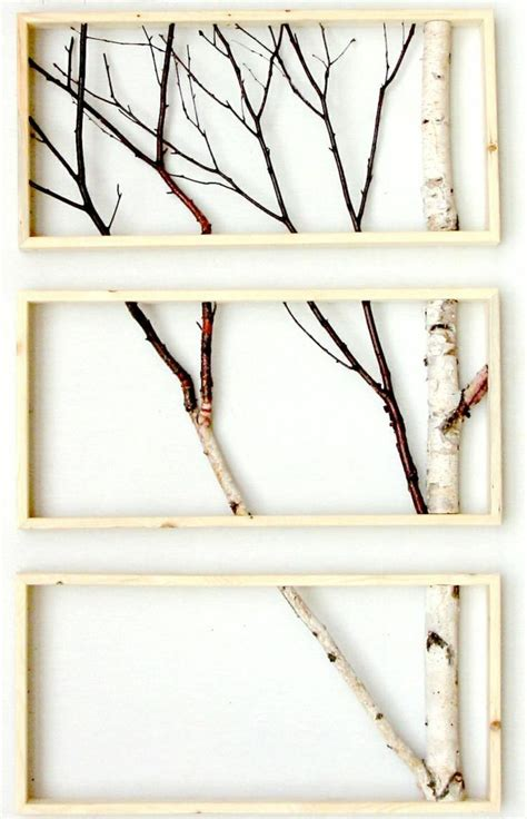wandbilder mit sprüchen mit birkenstamm wandbilder gestalten diy