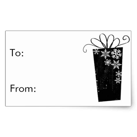 6 best images of black and white printable gift tag