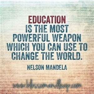 Education Is The Most Powerful Weapon Poster : nelson mandela on education quotes quotesgram ~ Markanthonyermac.com Haus und Dekorationen