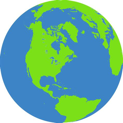 globe earth world  vector graphic  pixabay