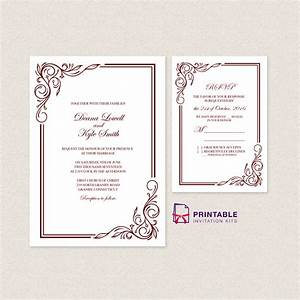 scroll invitation templates free 28 images purple With free printable scroll wedding invitations