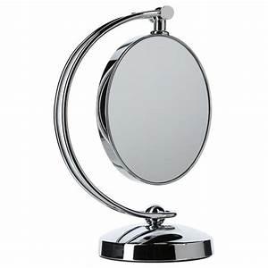 Miroir à Poser : miroir poser pivotant double face argent ~ Teatrodelosmanantiales.com Idées de Décoration