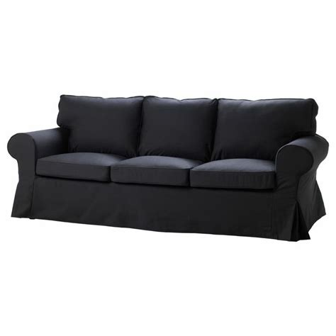 ikea ektorp slipcover 3 seat seater sofa cover idemo black cotton 401